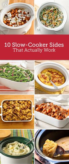 Wondering how you're going to fit all those sides in the oven alongside the turkey this year? No need to cook in shifts with these handy slow-cooker Thanksgiving recipes at the ready. From stuffing to green beans to cornbread, these made-for-the-slow-cooker sides (straight from our test kitchens!) will make your life so much easier.