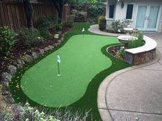 Project: San Jose, CA Backyard Putting Green Backyard Putting Green, Drought Tolerant Landscape, Artificial Turf, Putt Putt, San Jose, Bay Area, Golf Courses, Patio, Projects