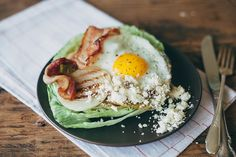 grilled wedge salad with a fried egg + cranberry feta! | my name is yeh for @presidentcheese #artofcheese