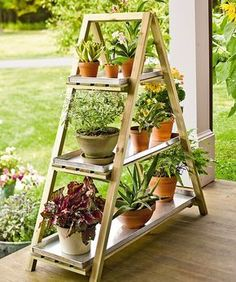 74+x+12+two+tier+plant+stand | Wooden A-Frame Plant Stand