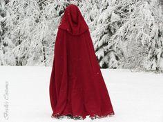 Red Riding Hood Wool Cape von briellecostumes auf Etsy