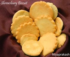 Shrewsbury Biscuit - Basic recipe from Modern Cookery Vol 2 by Thangam E Philip and Tarla Dalal. Cookie Desserts, Cookie Bars, Indian Cookies, Coconut Biscuits, Biscuit Recipe, Macaroons, Tray Bakes, Baked Goods, Snack Recipes