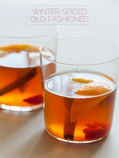 Winter spiced old fashioned  [ MyGourmetCafe.com ] #cocktail #recipes #gourmet