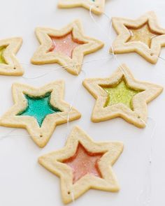 stained glass star cookies and let kids pick out their favorite colors to fill the middle