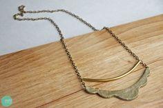 DIY: Scalloped Bar Necklace