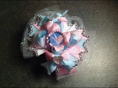 HOW TO make a 5 inch over the top stacked hair bow