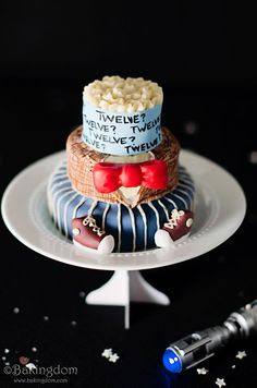 Doctor Who Ten Eleven Twelve Cake from Bakingdom