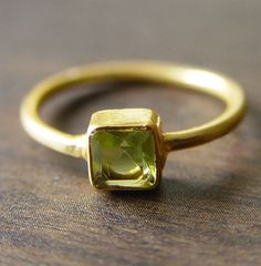 gold peridot ring...August birthday