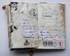 one of the spreads that Hanne created in M(Other) Love, collaborative artist book