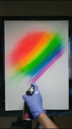 Canvas Painting Tutorials, Diy Painting, Spray Paint Artwork, Spray Paint Canvas, Easy Canvas Art, Art Tutorials, Watercolor Art, Art Projects, Art Drawings