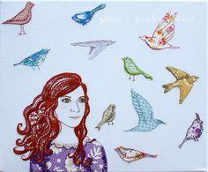 The Parsley Girl embroidery by Gracie's Garden Bazaar, via Flickr