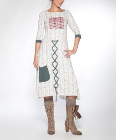 Look at this Piedra y Agua Ivory Aventurina Dress on #zulily today!