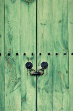Korea Photography Hemlock Mint Green Cellar Door Old by NatureCity, $25.00