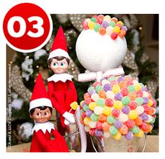 Happy National Gumdrop Day! We think this gumdrop topiary makes a festive addition to any birthday celebration! Find out how to make it here, and don't forget to invite your scout elf to join you on your big day, too! | Elf on the Shelf Blog