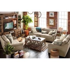 Living Room Furniture - Robertson Comfort Sofa