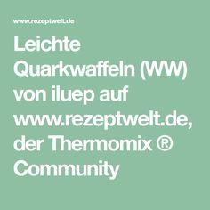 Leichte Quarkwaffeln (WW) von iluep auf www.rezeptwelt.de, der Thermomix ® Community