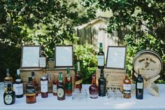 Share your love for bourbon with your wedding or party guests! Invite guests to sample a selection of bourbon, scotch, and whiskey on your big day with a fully stockedbar.