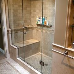 New shower creates French Country Spa experience. Photo: Christine Austin Contractor: Can-Swiss Contracting