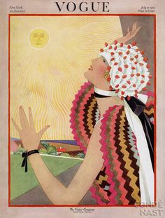 Vintage Vogue cover by George Wolfe Plank, July 1922