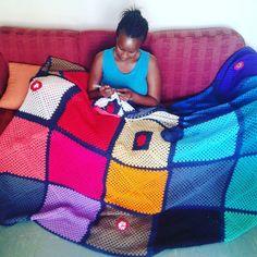 Best days ever completing my Rainbow Blabket. #crochetingisfun  and I looved & #love counting every stitch.  I'm actually done now waiting to exhale $$$$$$  #keepawaythesmartphone #smartphoneaway #crochetblanket #grannysquaresrock  #grannysquarestitch #woolandthegang #yarn  #crochetasalifeskill #busy  is good!  #ilovecrocheting #interiordecor #colours #Rainbow #hobbies #hobby  #nosmartphonemoments by ciirumutunga