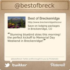 Best of Breck is on Twitter @bestofbreck's Twitter profile courtesy of @Pinstamatic (http://pinstamatic.com)