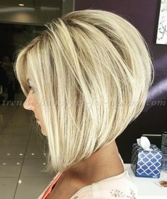 bob+hairstyles,+bob+haircut,+short+hairstyles+-+A+line+bob+hairstyle Bob Style Haircuts, Stacked Bob Haircuts, Aline Bob Haircuts, Medium Bob Haircuts, Bobbed Haircuts, Hair Styles Medium Bob, Blonde Bob Hairstyles, A Line Hairstyles, Long Bob Hair Cuts