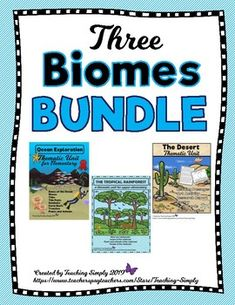 Get three biome thematic studies and be set with your science curriculum for months! Interesting information to keep students engaged and learning. Great for COVID quarantine! Print and go reading passages with worksheets, activities, and more! Science Curriculum, Teaching Science, Elementary Science, Reading Resources, Writing Activities, Thematic Units, Comprehension Questions, Reading Passages, Biomes