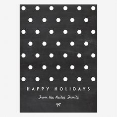 Simply Chalkboard Holiday Cards www.lovevsdesign.com