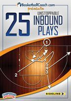 BasketballCoach.com presents: 25 Unstoppable Inbound Plays - Nine different coaches from the NBA, college and high school levels give you the inbound plays that have helped them win some of the most critical games of their careers. Learn how to score against man or zone defenses with over 25 inbound plays from baseline, sideline, and full-court situations. with Hubie Brown, Tom Crean, Vance Downs, Tom Izzo, Mike Krzyzewski, Mike Montgomery, Thom Sigel, Pat Summitt and Jay Wright