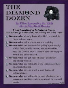 Seeking quality women to work with. Willing to coach and teach on owning a Mary Kay business, developing a business plan, being a phenomenal leader and having a successful business. Contact me to join me team. Be apart of the Magic. www.marykay.com/tfortune1