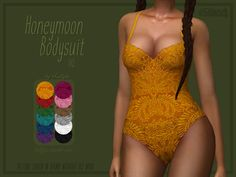 Honeymoon Bodysuit by Trillyke at TSR • Sims 4 Updates