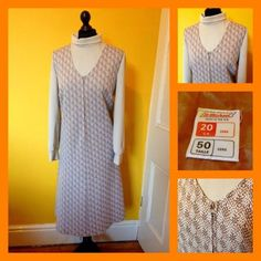 #Vintage 70's st michael #brown crimplene zip front pinafore dress uk #16/18 mod,  View more on the LINK: 	http://www.zeppy.io/product/gb/2/361872652700/