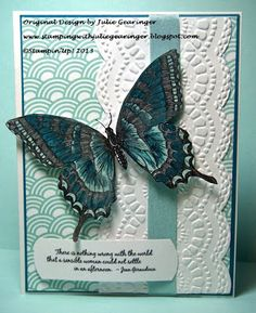 Stamping with Julie Gearinger: Another Quick CAS Card- Two Challenges, MDS and Scraps!