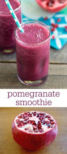 Pomegranate Smoothie Recipe via @realfoodrecipes