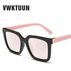 Good price VWKTUUN Fashion Korean Women Sunglasses Oversized Men Big Frame Sun Glasses Mirror Lens Sun Glass UV 400 Protection Eyewear just only $5.58 with free shipping worldwide  #womanaccessories Plese click on picture to see our special price for you