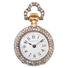Tiffany & Co Gold Diamond Pendant Watch, Switzerland, 1900