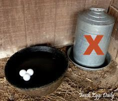 Ping pong balls to keep water from freezing