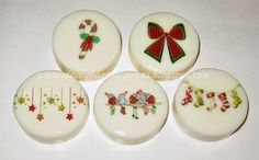 Decoupage, y algo más...: Anticipo de Navidad: Jaboncitos decorados