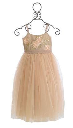 Le Pink Girls Special Occasion Dress in Pink