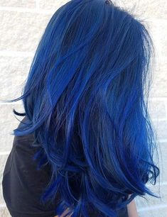 Pin by Phyrra - Pale Girl Beauty, Hooded Eye Makeup, Lifestyle on blue hair color - Hair Color Best Blue Hair Dye, Dark Blue Hair, Dyed Hair Blue, Blue Wig, Blue Tips Hair, White Hair, Brown Hair, Hair Dye Colors, Hair Color Blue