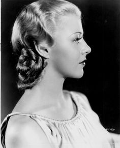 All an inspiration to Lipstick & Curls for hair & make up Ginger Rogers
