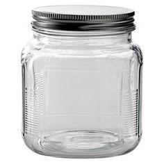 Glass Cracker Jar with Metal Lid : Target 32oz $4.18 each