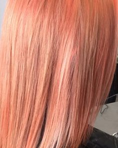 Hair straightening! a temporary change for s bit of fun using @evohair fav pro. These colours last around 10-15 washes hair by Ross #peachhair #telleishHairStudio #evo #fabpro #haircareaustralia by telleish_hair_studio