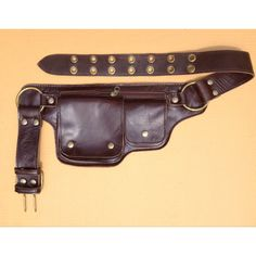 Leather Travel Belt, Utility Belt Bag, Fanny Pack, Hip Purse,... (£63) ❤ liked on Polyvore featuring bags, beige bag, belt bag, fanny pack bags, zip pouch bags and travel waist bag