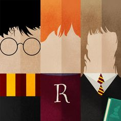 Harry Potter Bookmarks by Rafael Ferrer, via Behance