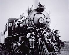 """Mexican Revolution - My dad's family grew up on the """"ferrocarril"""". Pancho Villa, Old Pictures, Old Photos, Mexican Revolution, South Of The Border, Old Trains, Chicano Art, Mexicans, Mexican Art"""