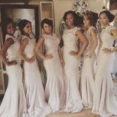 Newest Lace Mermaid Illusion Bridesmaid Dress 2016 Cap Sleeve