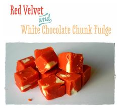 Red Nose Day Bakesale Inspiration: Red Velvet and White Chocolate Chunk Fudge Fudge Recipes, Candy Recipes, Delicious Recipes, Yummy Food, Chocolate Sweets, White Chocolate, Red Nose Day Cakes, Oh Fudge, Food Ideas
