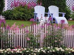 love that white picket fence