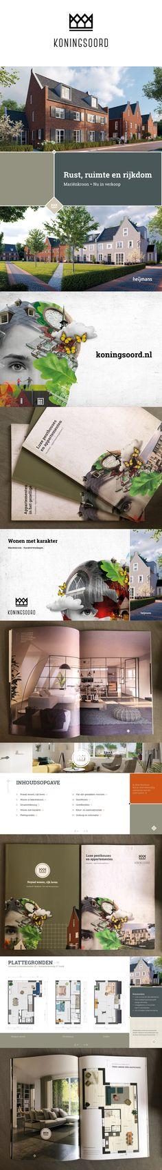 Project: Koningsoord  Opdrachtgever Heijmans Vastgoed  Brochure, drukwerk, interactieve brochure, opmaak, print, rollbanner, tekeningen, vastgoedcommunicatie, vastgoedpromotie Kos, Desktop Screenshot, Prints, Design, Design Comics, Printmaking